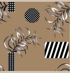 Abstract geometric figure seamless pattern black vector