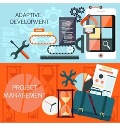 Adaptive development and project management vector image