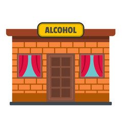 Alcohol shop icon flat style vector