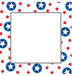 American abstract star flag festive frame vector