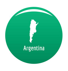 Argentina map in black simple vector