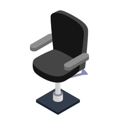 Armchair hairdresser isometric 3d icon vector