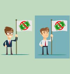 ban of money flat vector image