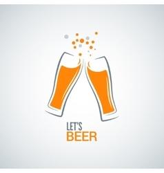 beer glass splash design background vector image