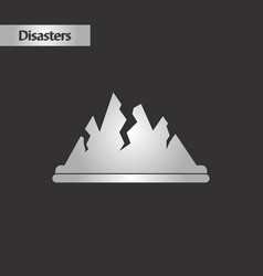 Black and white style cracks mountains vector