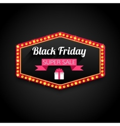 Black Friday Special Offer retro light frame vector