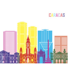 Caracas v2 skyline pop vector
