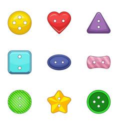 Clasp icons set cartoon style vector