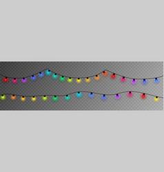 colorful christmas lights vector image
