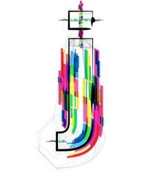 Colorful Font - Letter j vector image
