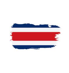 Costa rica flag vector