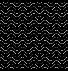 dark seamless texture horizontal thin wavy lines vector image