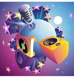 Disco party planet vector image