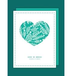 Emerald green plants heart symbol frame vector