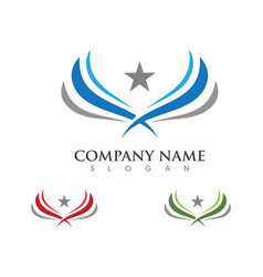 Falcon eagle bird logo template icon vector