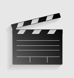 Film clap board cinema sign Black paper with vector