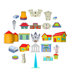 Formation icons set cartoon style vector