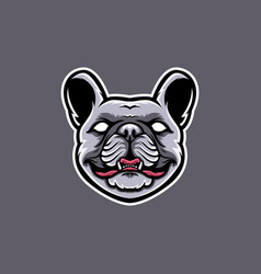 french bulldog head mascot design bulldog vector image