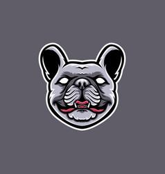 french bulldog head mascot design bulldog vector image