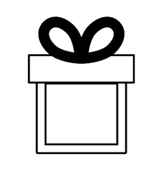 gift box ribbon black bow linear vector image