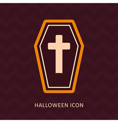 Halloween Coffin silhouette icon vector image