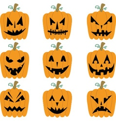 Halloween Pumpkins collections vector image