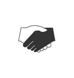 handshake icon graphic design template vector image