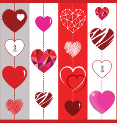 happy valentines day background and striped vector image