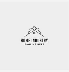 Home city gear logo design factory industry icon vector