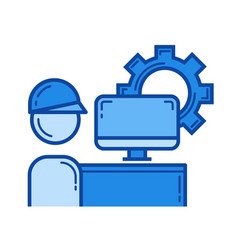 industry worker line icon vector image