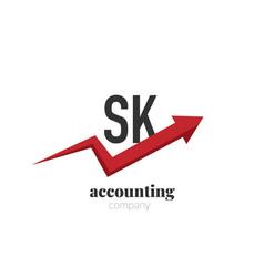 initial letter sk creative finance - money vector image