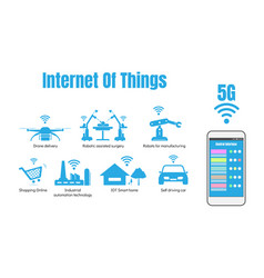 Internet of things or iot concept 5g internet vector