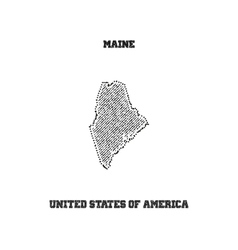 Label with map of maine vector