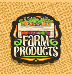 Logo for farm products vector
