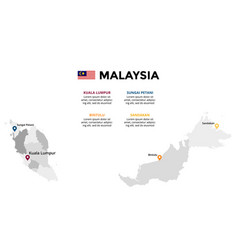 Malaysia map infographic template slide vector