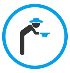 Male Beggar Rounded Icon vector