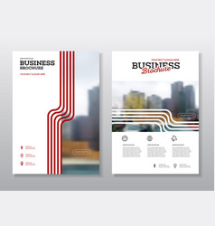 Modern brochure design template vector