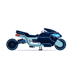 motorcycle icon realistic blue sport motorbike vector image
