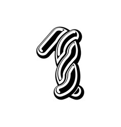 number 1 celtic font norse medieval ornament abc vector image