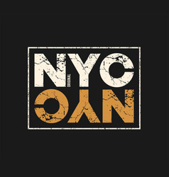 nyc original t-shirt and apparel design with vector image