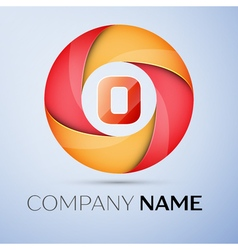 O letter colorful logo in the circle template for vector