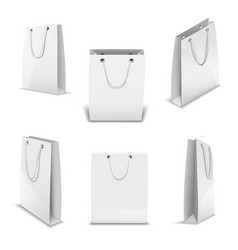 Paper bags for shopping realistic 3d vector