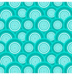 Pattern of azure circles vector image