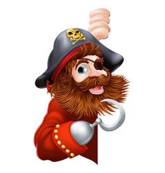 pirate showing a sign vector image