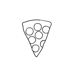 pizza slice hand drawn sketch icon vector image