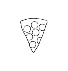 pizza slice hand drawn sketch icon vector image
