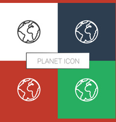 Planet icon white background vector