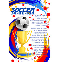 Poster of soccer club football championship vector