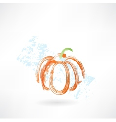 pumpkin grunge icon vector image
