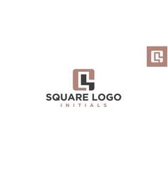 q or cs negative space logo design inspiration vector image
